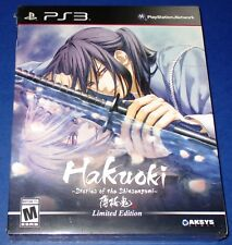 Hakuoki: Stories of the Shinsengumi - Limited Edition PS3 *New-Sealed-Free Ship!