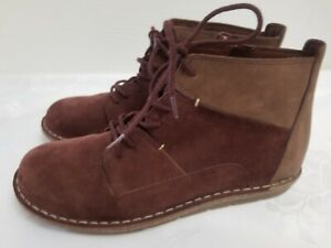 Clarks Tamitha Key Mahogany Size 8.5  Leather & Suede Lace-up Ankle Boots - NEW!