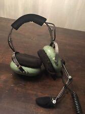 David Clark Model H10-46 Aviation Pilot Headphones Volume Control Microphone Set