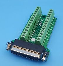 DB25 Female 25Pin Plug Breakout PCB Board Terminals D-SUB Connector