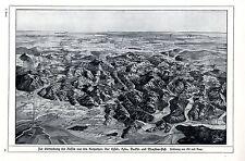 Vertreibung der Russen aus den Karpathen 1914-18 WAR MAP WW I.