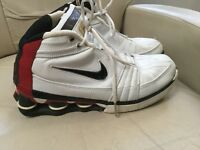 Nike Shox VC IV 4 shoes 310379 101 white/black/red size 9.5 Vince Carter