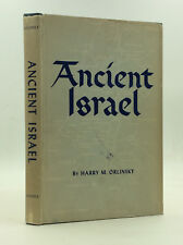 ANCIENT ISRAEL by Harry M. Orlinsky - 1954 - History - Biblical studies