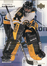 2000-01 UD PROS and PROSPECTS #94 Andrew RAYCROFT RC - Boston Bruins  #/1000