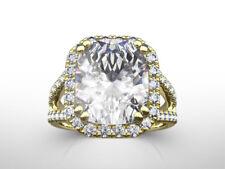 Yellow Gold Estate Size 5.5 6.5 7.5 4.5 Carat Genuine Diamond Halo Ring 14 Karat