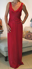 ALBERTA FERRETTI Raspberry Silk Low Back Evening Dress Gown 40 UK10 Cost £2,500