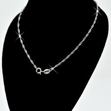 REAL SOLID SILVER Classic 925 Sterling Silver Chain Necklace Jewelry (WaterWave)