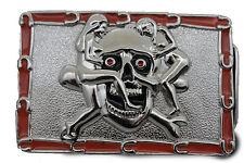 Men Women Silver Belt Buckle Skull Skeleton Bone Pirate Halloween Sexy Ladies