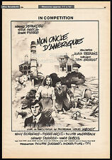 My American Uncle_AKA__Mon oncle d'Amerique__Original 1980 Trade AD promo_poster