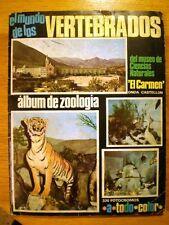 ÁLBUM 'EL MUNDO DE LOS VERTEBRADOS' (Coled, 1970) * con 160 cromos