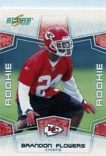 Brandon Flowers 2008 Score Rookie Card RC #358 Kansas City Chiefs
