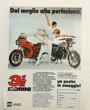 Pubblicità 1982 MOTO MORINI BOLOGNA MOTOR advertising publicitè werbung reklame