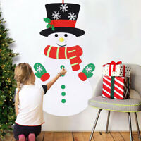 Christmas DIY Felt Snowman Game Kit Detachable Ornaments Xmas Wall Hanging Decor