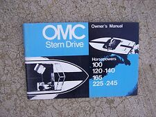 1973 OMC Stern Drive Owner Manual 100 120 140 165 225 245 HP  MORE IN STORE   S