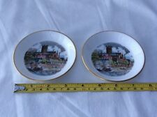 Two Royal Worcester Bone China Pin Trays made for Kay and Co Ltd