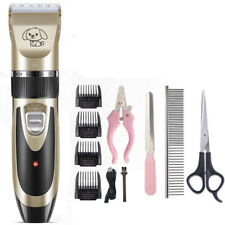 Cordless Pet Dog Cat Clippers Electric Hair Trimmer Shaver Scissor Grooming Kit