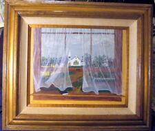 Bertha Bates Daniels Original vintage framed painting 1950s