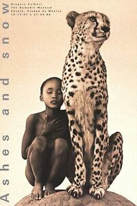 GREGORY COLBERT Child with Cheetah, Mexico City 36 x 24 Poster 2007 Photography