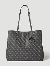 GUESS Black Logo Shoulder Handbag Large Size Womens Tote Bag Brand New RRP £135