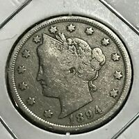 1894  LIBERTY NICKEL BETTER DATE COIN