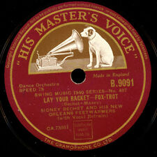 SIDNEY BECHET & HIS FEETWARMERS  I want you tonight / Lay your racket    X2097