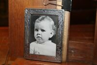 Antique Webster Company Sterling Silver Baby Photo Picture Frame Birth Record
