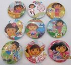 NEW Lot of 9 Dora the Explorer Badges - 3cms diameter - for party loot bags