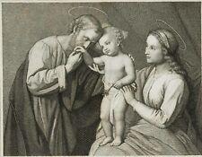 EITEL, SASSOFERATO, Bibelillustration. Heilige Familie, 18. Jh., Kupferstich