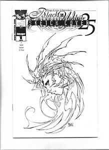 WITCHBLADE #25 MICHAEL TURNER DF EXCLUSIVE BLACK & WHITE SKETCH VARIANT RARE