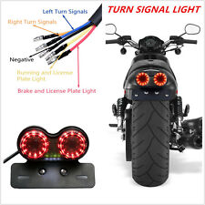 1PC SMOKE LED LICENSE PLATE BRAKE TAIL TURN SIGNAL LIGHT FOR BOBBER CAFE RACER
