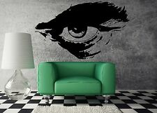 Wall Sticker Vinyl Decal Man's Eye with Eyebrow Barbershop Hair Cuttery (m521)
