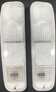FORD TRUCK BRONCO 73-79 CLEAR TAIL LIGHTS with free RED  LED/1157 BULB NEW