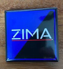 Vintage Zima Square Pin Button Pinback - Excellent Condition - Free Shipping
