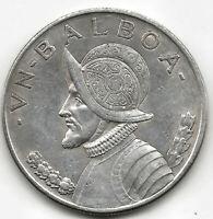 Panama 1 Balboa 1934 plata @ Excelente @