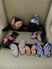 Professional Hard Bra and Belt Egyptian Belly Dance Butterflies Handmade