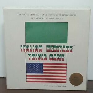 Heritage Games Italian Heritage Trivia Game 1st Edition New Educational 1986