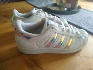 Adidas Superstar Size Uk 3 Trainers White transparent Stripes