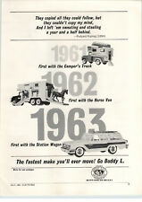 1963 PAPER AD Buddy L Camper RV Station Wagon Tonka Back Hoe Trencher Toy Truck