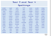 Year 3 and Year 4 Spellings Laminated Word Mat. Education. Vocabulary. Children