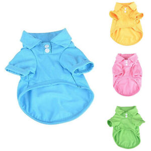 For Puppy Dog Polo Shirts Summer Sweet Candy Color Fashion Pet T-shirt Clothes