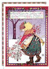 Mary Engelbreit-Gathering Roses Winter-Christmas Card w/Holiday Envelope-New!