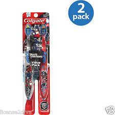 TRANSFORMERS HASBRO COLGATE 1 PACK OF 2 TOOTHBRUSHES WITH TONGUE CLEANER!