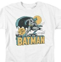 Bat Man T-shirt comic book retro 80s cartoon DC Robin white superhero tee DCO756