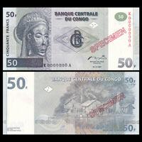 Congo 50 Francs, 1997, P-89S, SPECIMEN, UNC