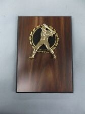 Team lot of 12 Baseball snap gold and black relief wood finish plaque trophy 5x7