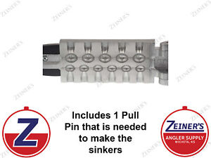 1172 New Do It Egg Sinker Mold 6 cavities of 1/4 and 5 cavities of 1/2 oz
