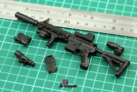 "12"" Weapon Model Assembly Assault rifle Gun 4D Black HK416 For 1:6 Scale Figure"