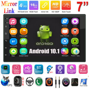 2DIN Android 10.1 7IN Car Stereo MP5 GPS Navi WiFi BT AUX Touch FM Radio 4Core