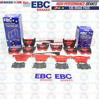 FOR AUDI RS3 8V 15- FRONT REAR EBC RED STUFF PERFORMANCE UPGRADE BRAKE PADS SET