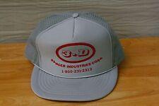 Rare Vtg 3D Ranger Industries Crop Mesh Trucker Snapback Hat Cap